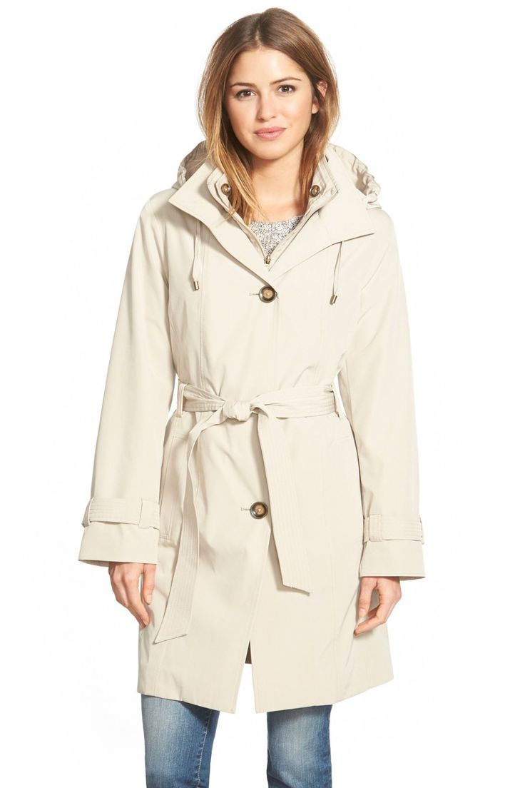 Hooded Raincoat by London Fog on @nordstrom_rack