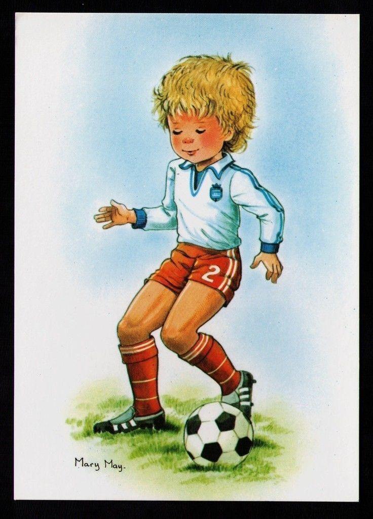 CP Fantaisie Illustrateur Mary MAY Enfant Ballon Sport Football N°545 1 | eBay