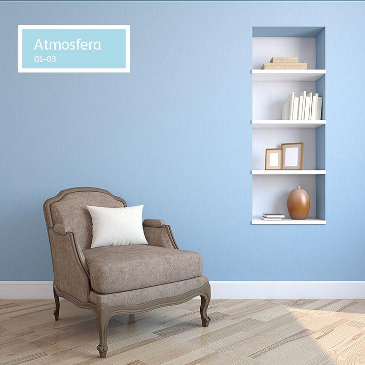 Tú puedes crear espacios tan increíbles como éste, solo tienes que aplicar un poco de #COLOR a tus ideas. ¡Vamos!   #tips #hogar #Comex #azul #sala #furniture #blue