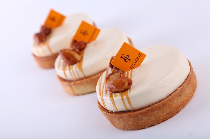 Roasted Chestnut Dulce de Leche Tart |An almond tart shell layered with dulce de leche ganache, roasted chestnut & mascarpone crémeux and candied chestnuts.