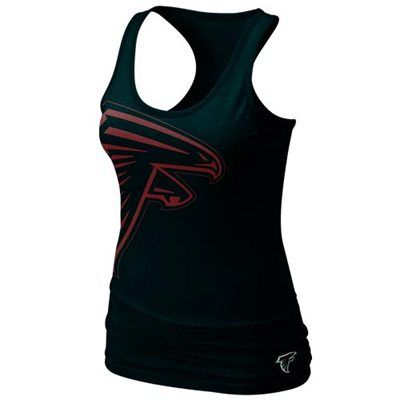 Nike Atlanta Falcons Women's Team Big Logo Tri-Blend Tank - Black
