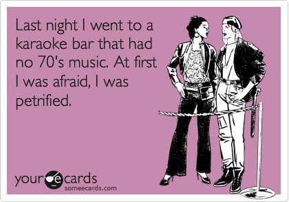 ha!: 70 S Music, 70S Music, Karaoke Funny, Banquet Rooms, Funny Music, Ecards Mademelaugh, Karaoke Bar