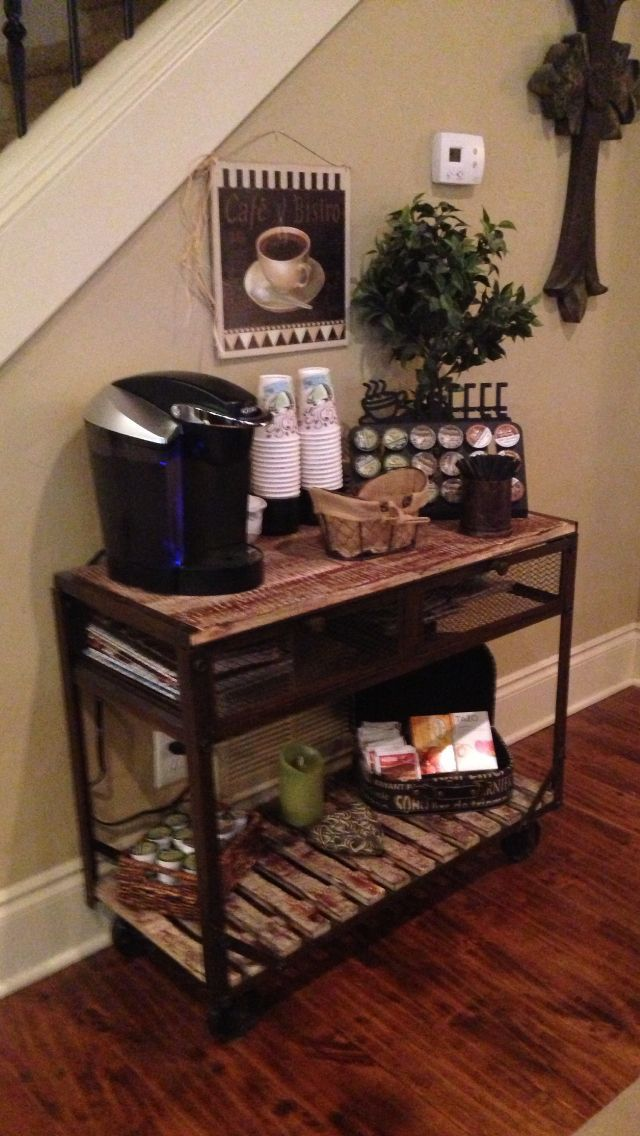 coffee bar in the living room coffee corner pinterest. Black Bedroom Furniture Sets. Home Design Ideas