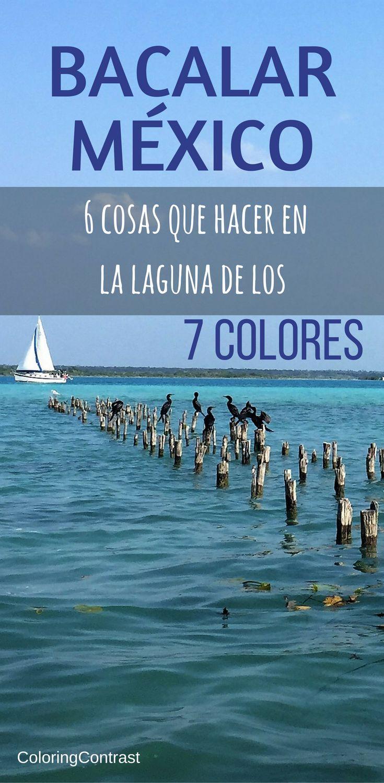 Bacalar México, laguna de los 7 colores, espectacular!!