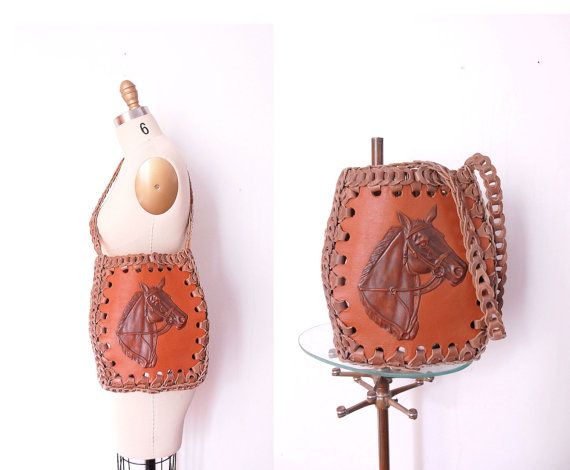 70s Pony Bag / 1970s Horsing Around Purse by wildfellhallvintage, $78.00