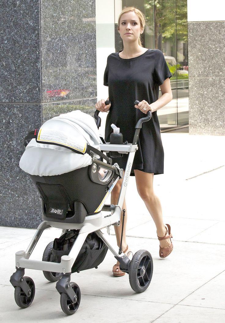 Kristin Cavallari takes newborn son Camden Jack Cutler for a stroll in Chicago, IL on August 8th, 2012.