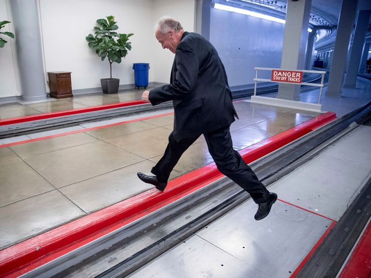 A Republican senator jumped subway tracks to try to get away from reporters asking about the healthcare bill - Kansas senator Jerry Moran has been hounded by reporters since announcingMonday night that he wouldn't vote for the Republican healthcare bill, theBetter Care Reconciliation Act.  When confronted by reporters on Tuesday on Capitol Hill, Moranopted to jump across the tracks of the Senate subway to get away from them:  Moran, along with fellow Republican Sen. Mike Lee of Utah…