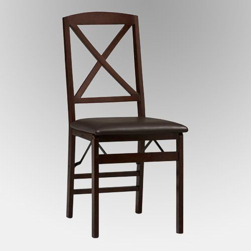 Linon Tremont X Back Folding Dining Chair