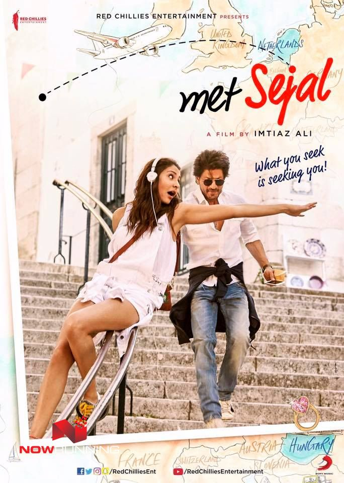 Shah Rukh Khan & Anushka Sharma in 'Jab Harry Met Sejal' - First Look Poster