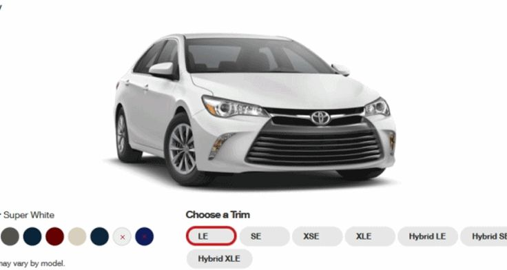 2015 Toyota Camry Colors and Trims - Visual Buyers Guide