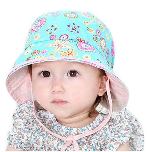 2016 Toddler Infant Sun Hat Baby Cap Newborn Photography Props Spring Summer Outdoor Wide Brim Baby Girl Hat Beach Bucket Hat