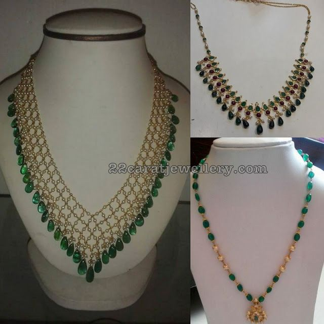 3c42ca8653034 Simple Beads Drops Necklaces | short necklace | Small pearl necklace ...