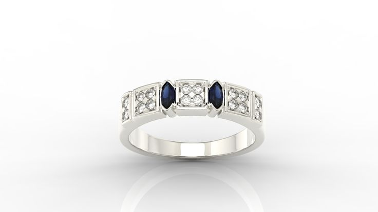 Pierścionek z białego złota ze szmaragdem./  white gold ring with emerald.