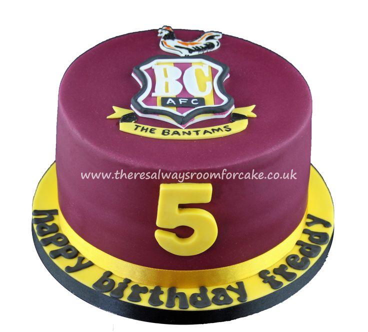 Bradford City Football Cake