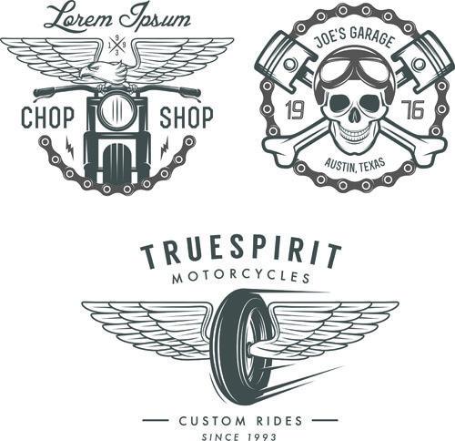 motorcycle logos creative retro