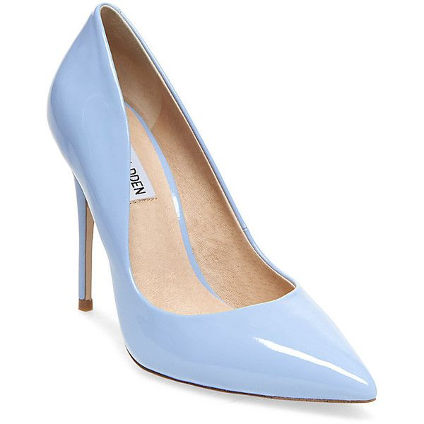 Steve Madden Daisie Pumps ($90) ❤ liked on Polyvore featuring shoes, pumps, blue, high heeled footwear, steve madden shoes, blue pumps, sexy high heel shoes and leather shoes