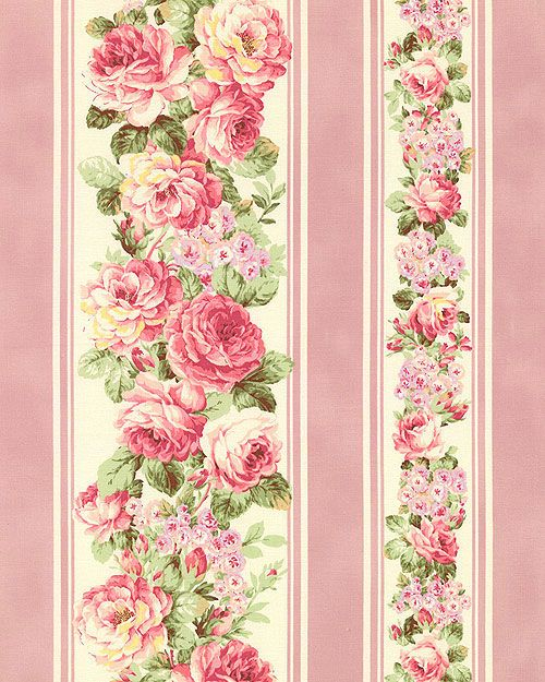 Japanese Import - Prima Blushing Rose Stripe - Deep Pink