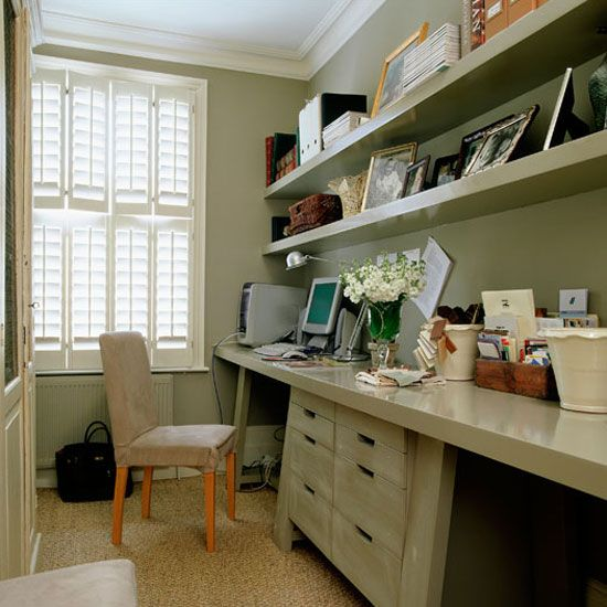 Home office | Victorian terraced house tour | Homes & Gardens house tour | PHOTO GALLERY | Housetohome