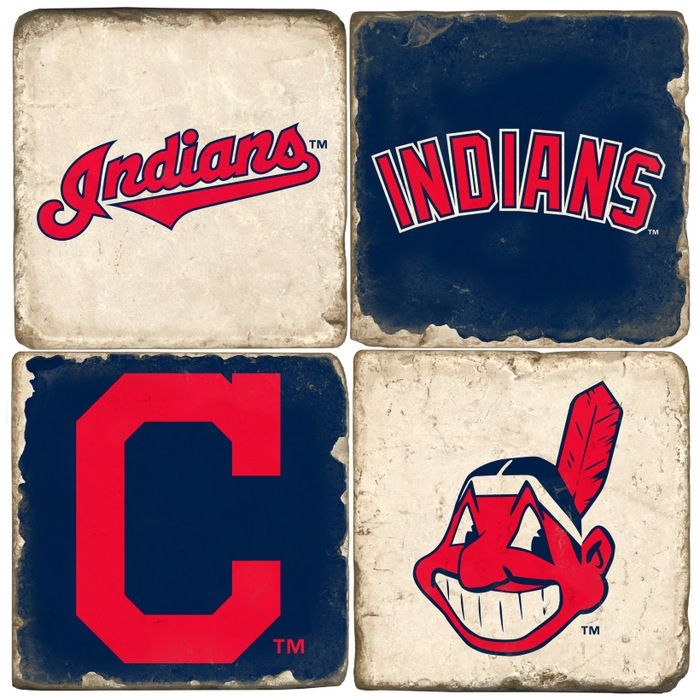Cleveland Indians Logo Drink Coasters