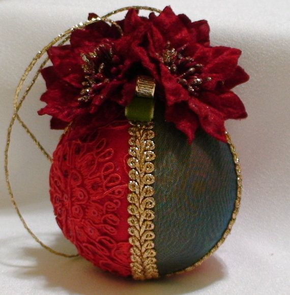 Shabby Chic Christmas Balls 16 by ShabbyChicXmas on Etsy