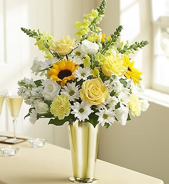 Flowers arrangements for 50th anniversary party for Flower arrangements for parties