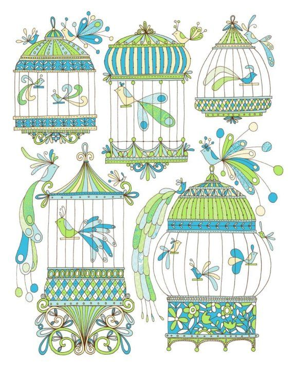Bird Cages -Limited Edition Screen Print