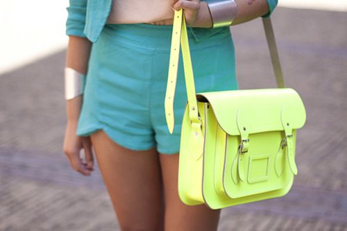 Neon cambridge satchel, plz?