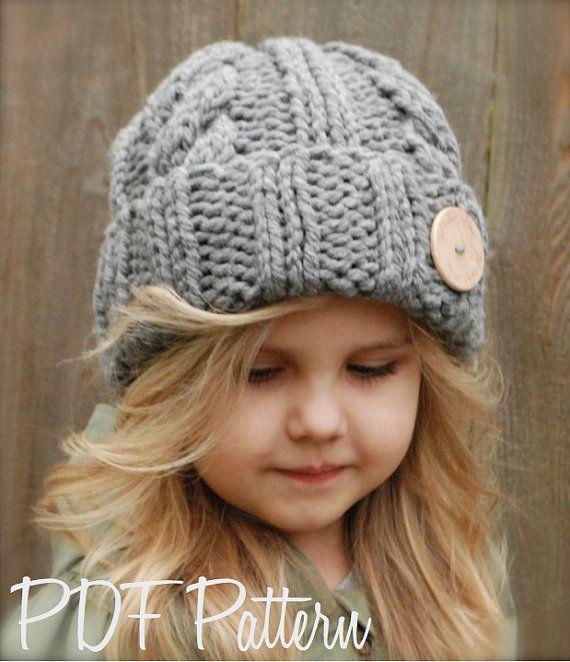 Knitting PATTERNThe Beckett Hat Toddler Child by Thevelvetacorn, $5.50