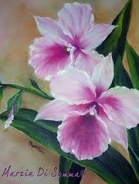 Resultado de imagen de orquideas al oleo