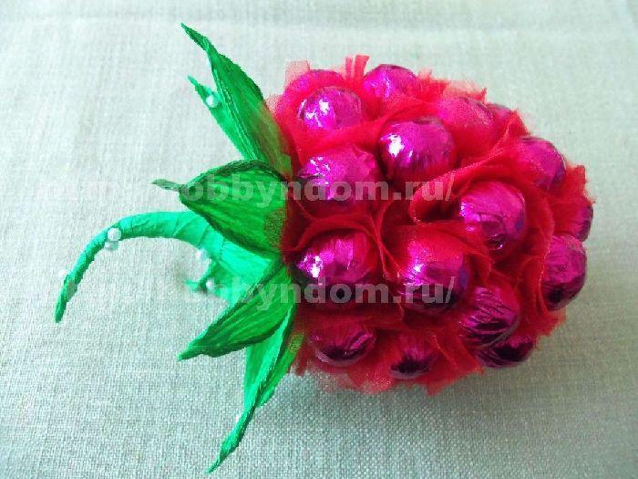 Himbeere aus Süßigkeiten. Candy berry