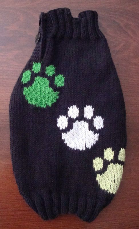 MADE TO MEASURE Paws hand knitted dog or pet sweater  by fifime, $29.00