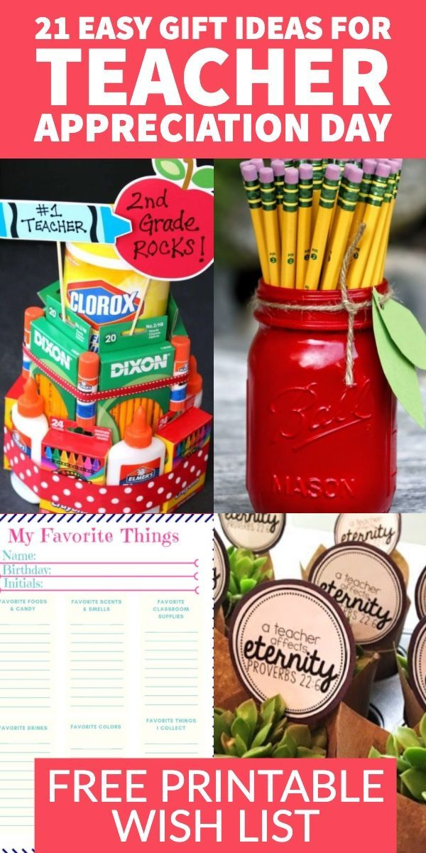 21 Of The Best Diy Teacher Gift Ideas For Every Occasion Inexpensive Teacher Appreciation Gifts Diy Teacher Gifts Inexpensive Teacher Appreciation