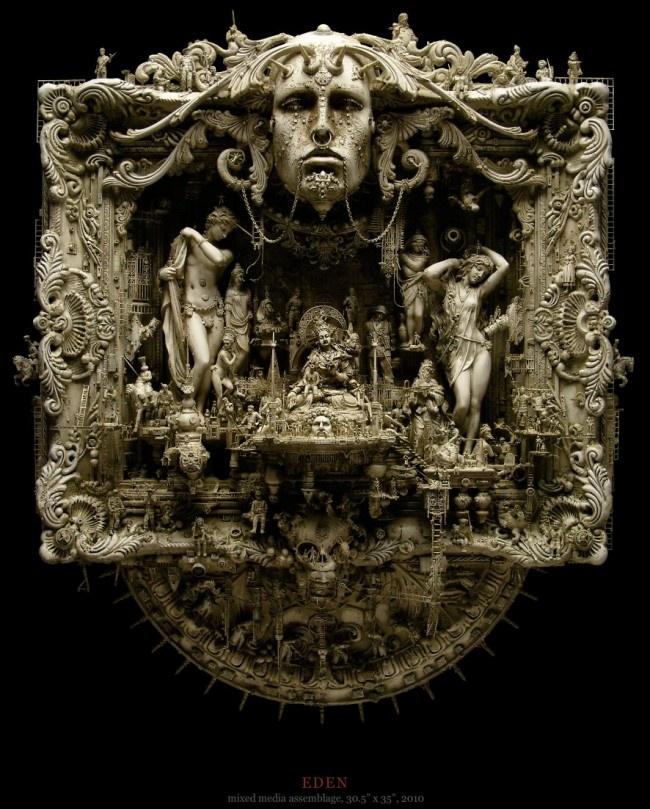 Insanely Detailed Sculptures of Kris Kuksi. Super talented!