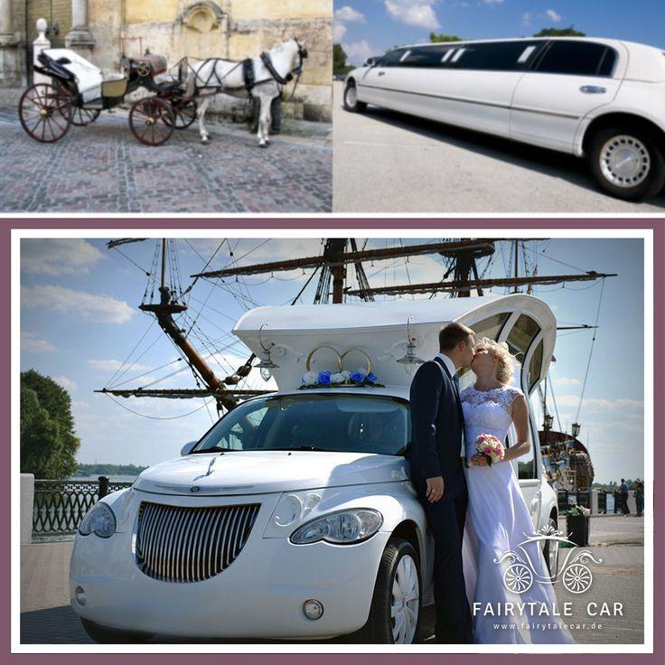 Klassisch trifft Modern. #FairytaleCar #Hochzeitslimousine