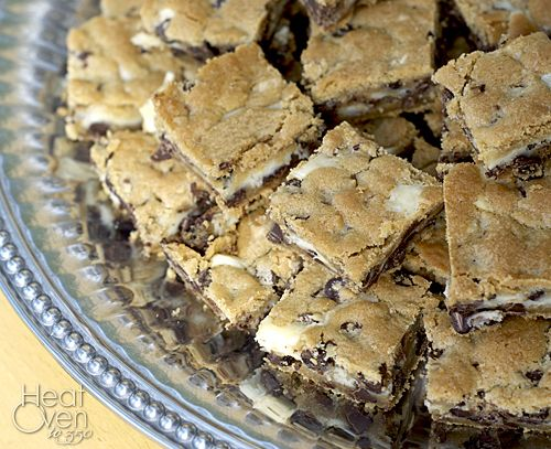 Cheesecake Chocolate Chip Cookie Bars | Delicious Food | Pinterest
