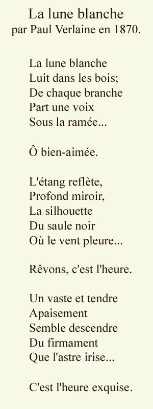La Lune Blanche - Paul Verlaine