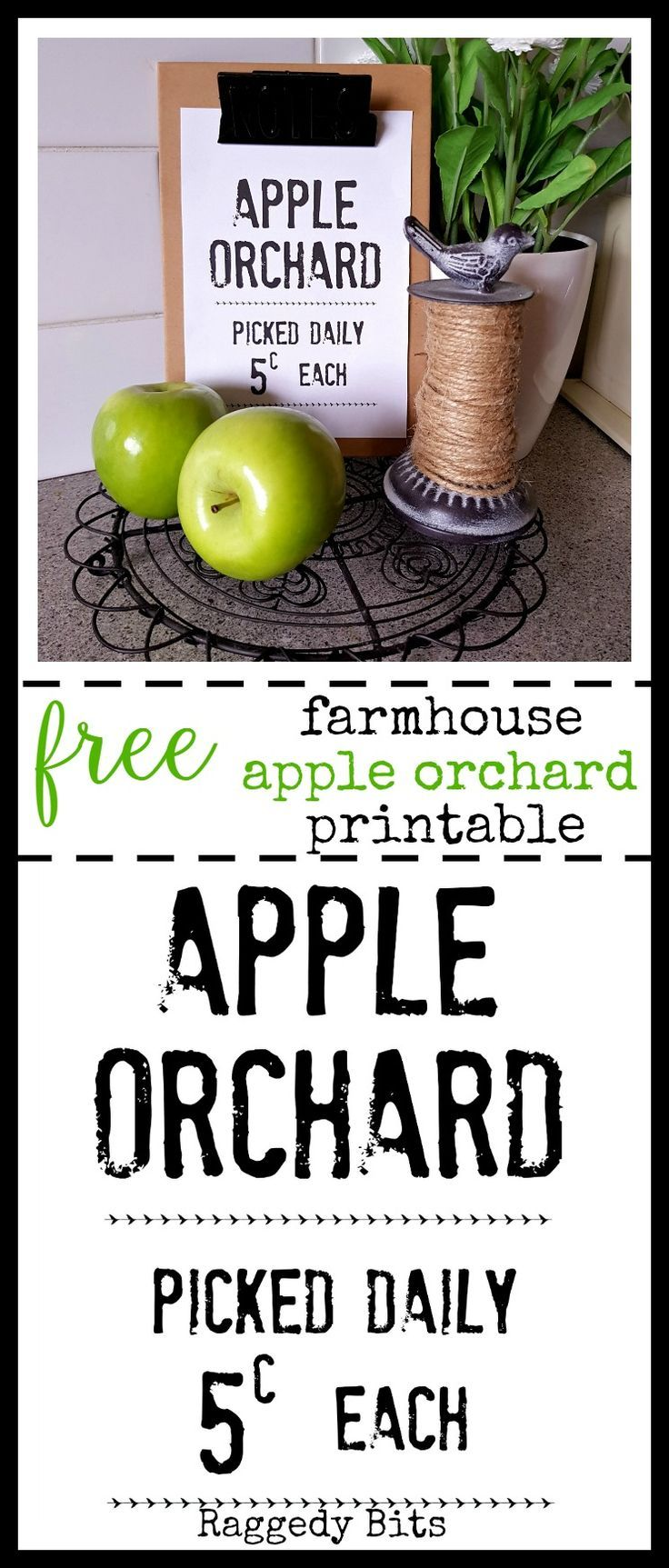 Be sure to grab your FREE Farmhouse Apple Orchard Printable to add some sweet…