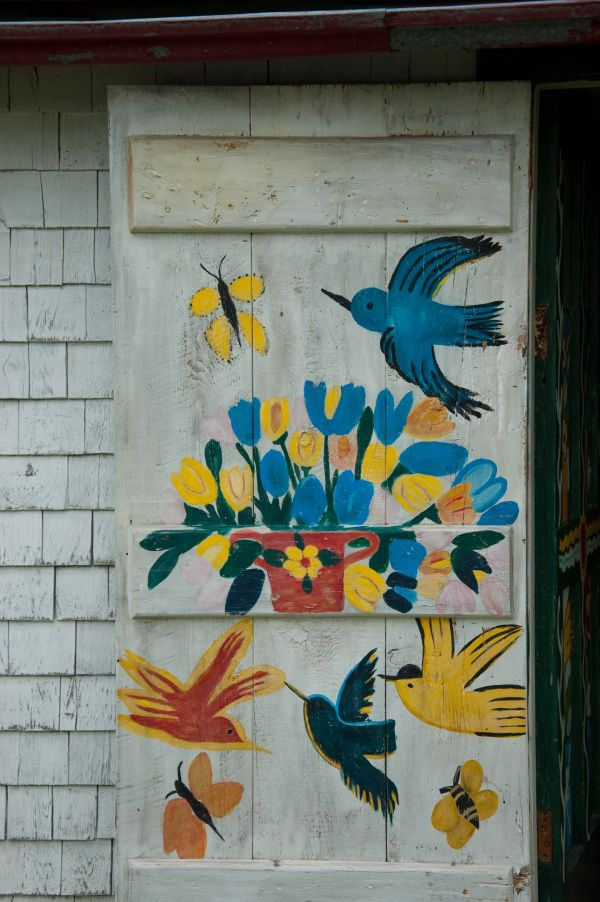 Maud Lewis House Doors Folk And The Front