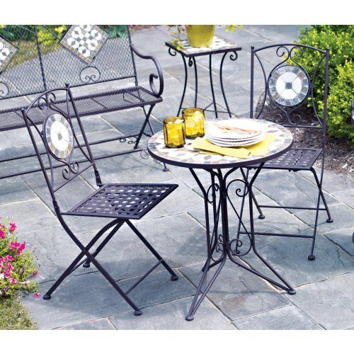 Living Accents Slate Bistro 3 Piece Set (One Table and Two Table Chairs)  LIVING - 18 Best Patio Images On Pinterest
