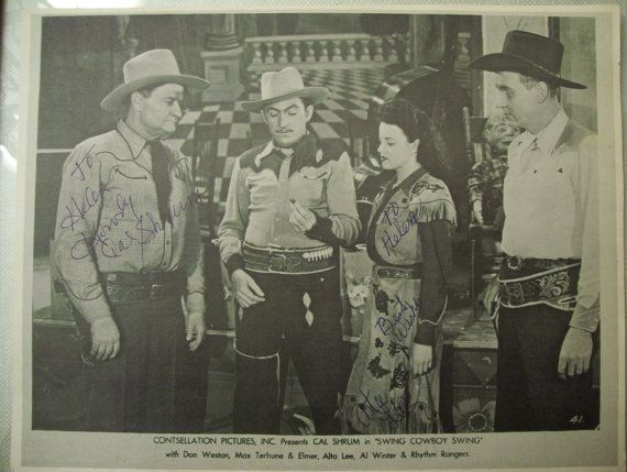 Signed Movie Promotional Flyer - Western - Swing Cowboy Swing