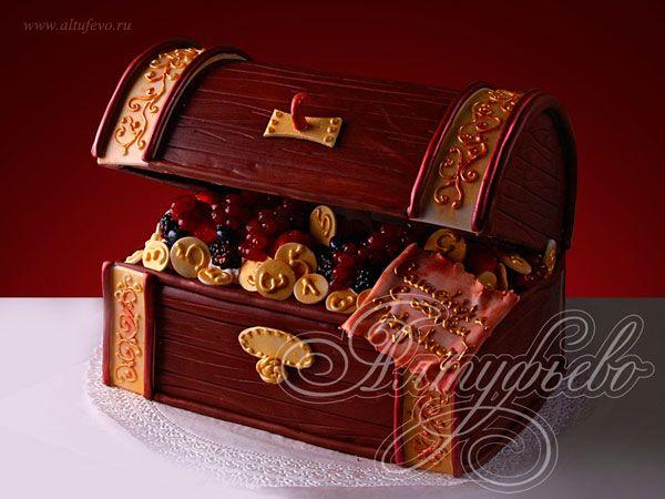 Торт сундук пиратов