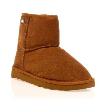 Les Tropéziennes par M Belarbi Flocon Boots en cuir camel 1115085