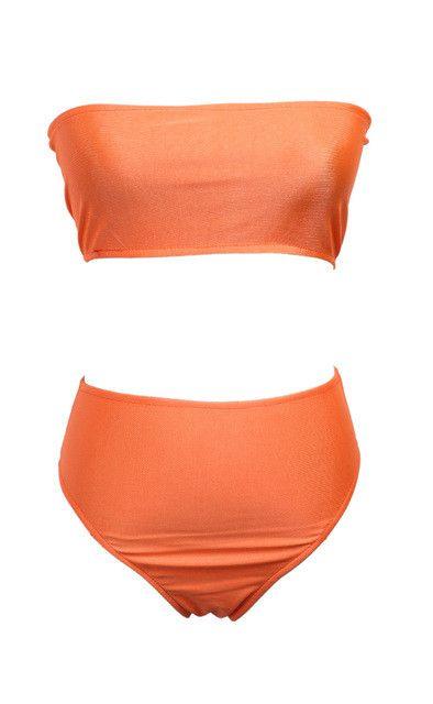 2017 Summer Women Cute Girl Bikini Monokini Swimsuit Padded Strapless Swimwear