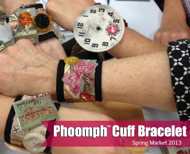 Phoomph Cuff Bracelet | The Sewing Loft: Great craft for the girls to do!