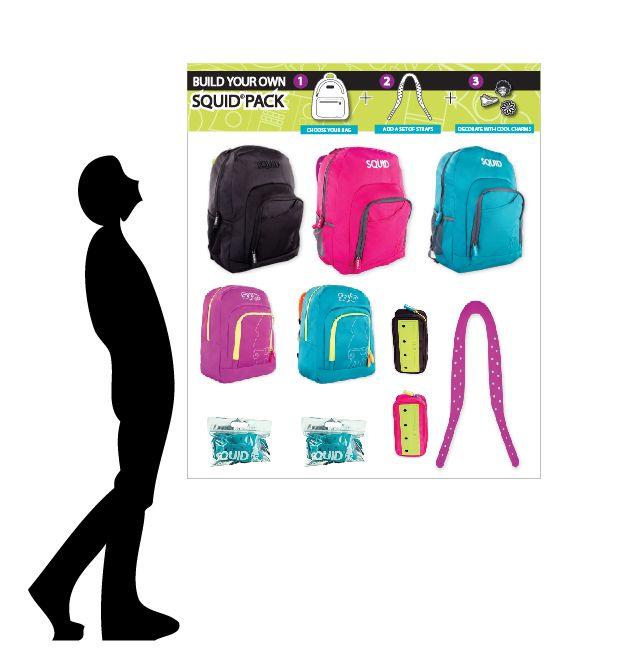 Regresa a clases y a la oficina con el estilo de los morrales y accesorios Squid. Combina las correas y charms para personalizar. Escógelos y ármalo según tu gusto. #morralesyaccesorios #backpacks #estiloymoda #juvenil