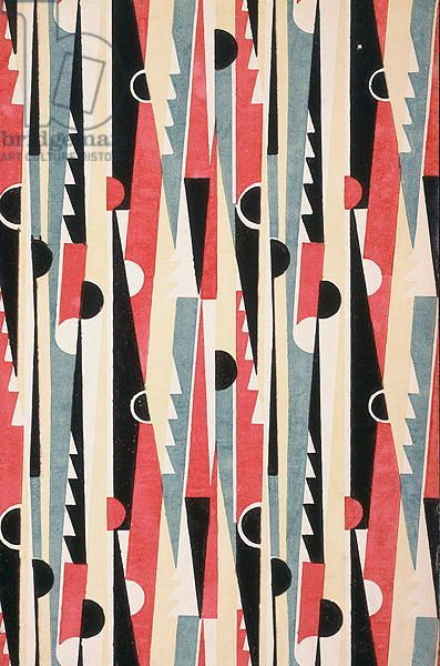 Geometric Art Deco textile design, France, 1933 (paper impression)