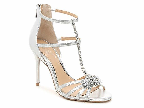 Women S Silver Dress Ankle Strap Gladiator Pumps Sandals Size 8 Dsw Jeweled Shoes Dream Wedding Shoes Bridal Wedding Shoes