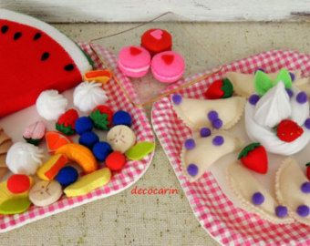 Felt Food Felt Cake Felt Home Party Decor Decoration by decocarin