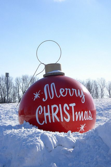 Frankenmuth, MI.  Five foot tall Christmas ornament located at Bronner's CHRISTmas Wonderland.