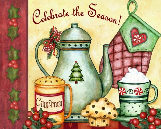 barbara ann kenney - December on my 2014 Kitchen Inspirations calendar by Lang
